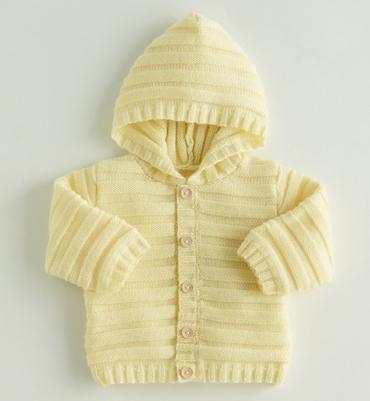 modele tricot veste a capuche bebe