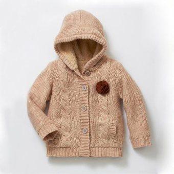 photo tricot modèle tricot gilet capuche bébé 6