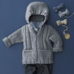 photo tricot modèle tricot gilet capuche bébé 7