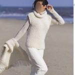photo tricot modèle tricot gilet grosse laine 11