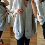 photo tricot modèle tricot gilet grosse laine 15