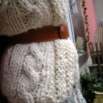 photo tricot modèle tricot gilet grosse laine