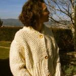 photo tricot modèle tricot gilet grosse laine 16