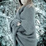 photo tricot modèle tricot gilet grosse laine 2