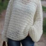 photo tricot modèle tricot gilet grosse laine 4