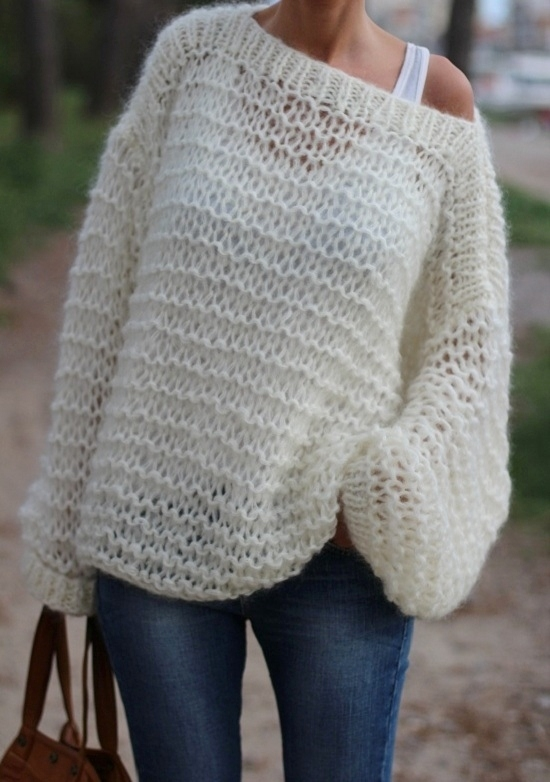modele tricot pull femme grosse laine