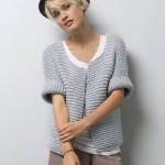 photo tricot modèle tricot gilet grosse laine 5