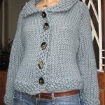 photo tricot modèle tricot gilet grosse laine 6