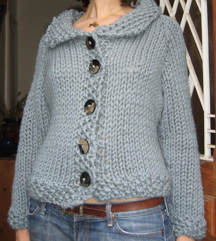 grosse veste en laine tricot