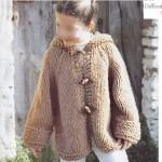 photo tricot modèle tricot gilet grosse laine 8