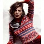 photo tricot modèle tricot gilet jacquard femme 11