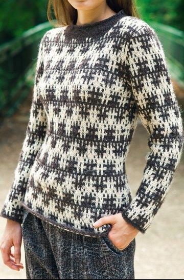 photo tricot modèle tricot gilet jacquard femme 12
