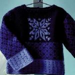 photo tricot modèle tricot gilet jacquard femme 13