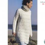 photo tricot modèle tricot gilet jacquard femme 14