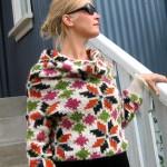 photo tricot modèle tricot gilet jacquard femme 15