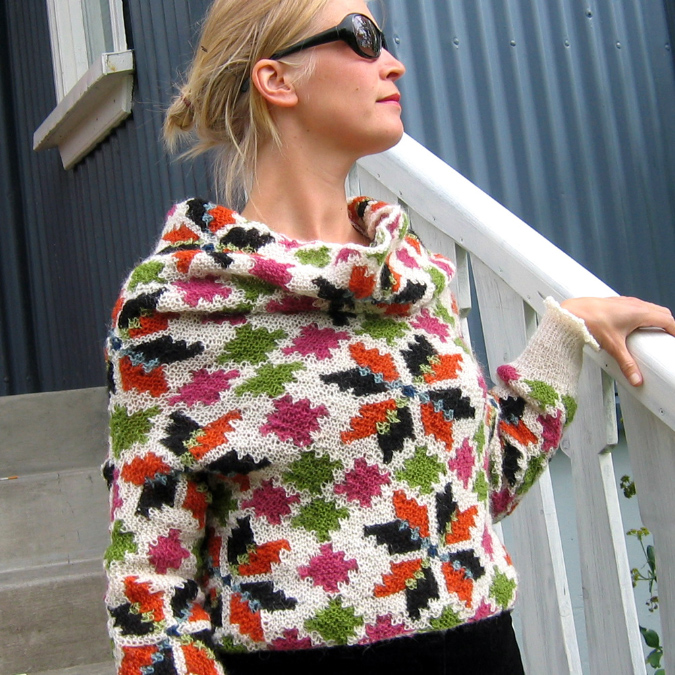 Modele tricot gilet jacquard femme