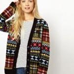 photo tricot modèle tricot gilet jacquard femme 16