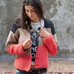 photo tricot modèle tricot gilet jacquard femme 18