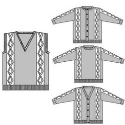 photo tricot modèle tricot gilet xxl 12