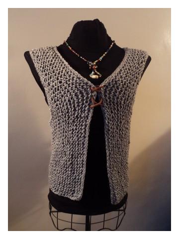 photo tricot modèle tricot gilet xxl 14