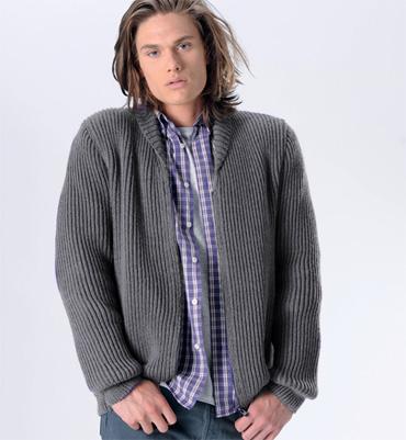 photo tricot modèle tricot gilet xxl 15