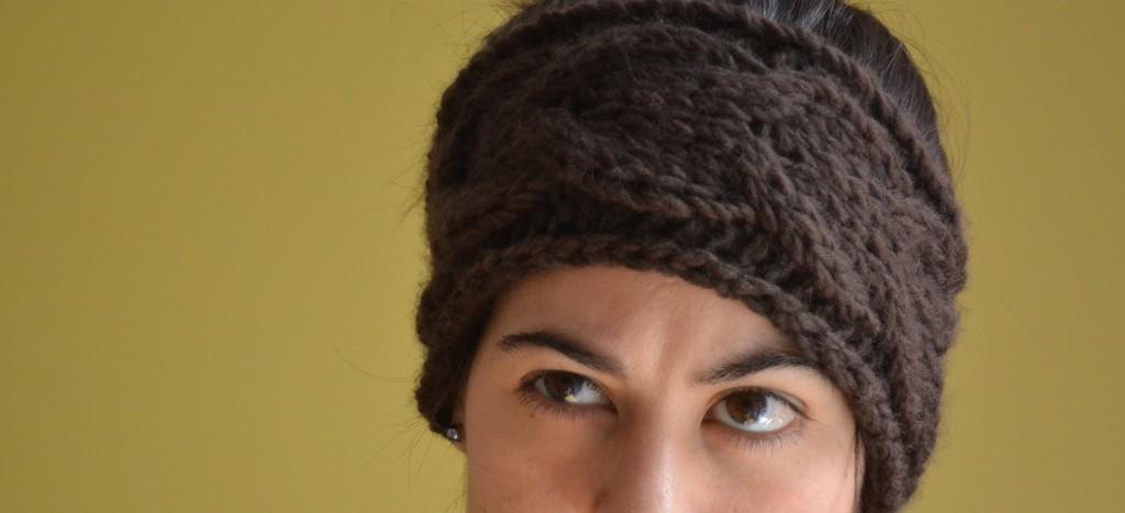 photo tricot modèle tricot headband 12
