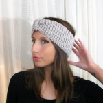 photo tricot modèle tricot headband