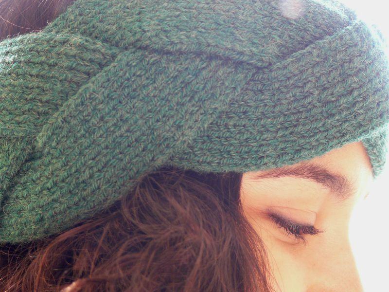 photo tricot modèle tricot headband 16
