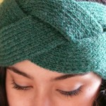 photo tricot modèle tricot headband 2
