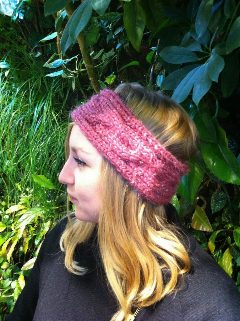 photo tricot modèle tricot headband 3
