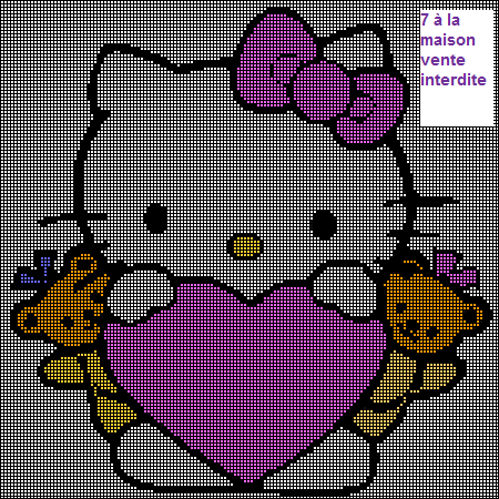 photo tricot modèle tricot hello kitty livre 5