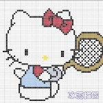 photo tricot modèle tricot hello kitty ups 11
