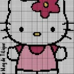photo tricot modèle tricot hello kitty ups