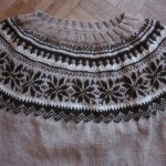 photo tricot modèle tricot jacquard norvégien 13