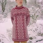 photo tricot modèle tricot jacquard norvégien 17