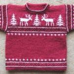 photo tricot modèle tricot jacquard norvégien 18