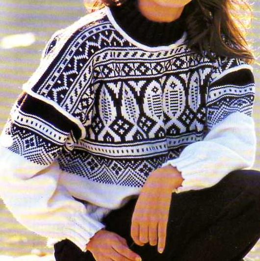 photo tricot modèle tricot jacquard norvégien 4