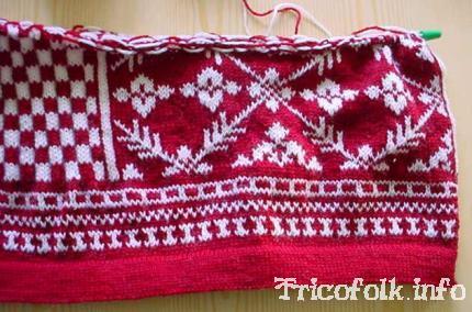 photo tricot modèle tricot jacquard norvégien 6