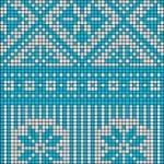 photo tricot modèle tricot jacquard norvégien 8