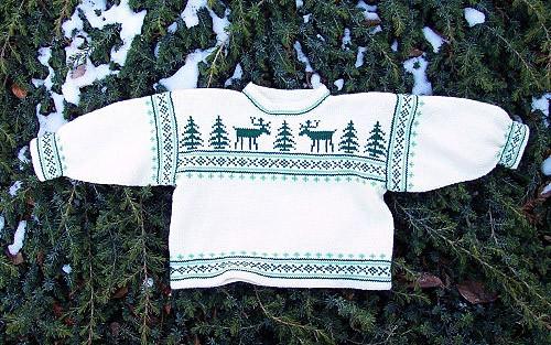 photo tricot modèle tricot jacquard norvégien 9