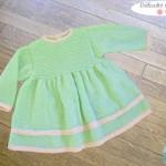 photo tricot modèle tricot jupe bébé 14