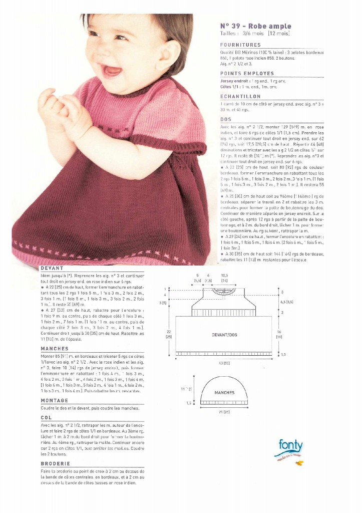 Modèles de jupe de bébé