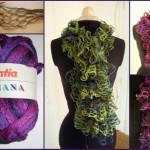 photo tricot modèle tricot katia écharpe 13