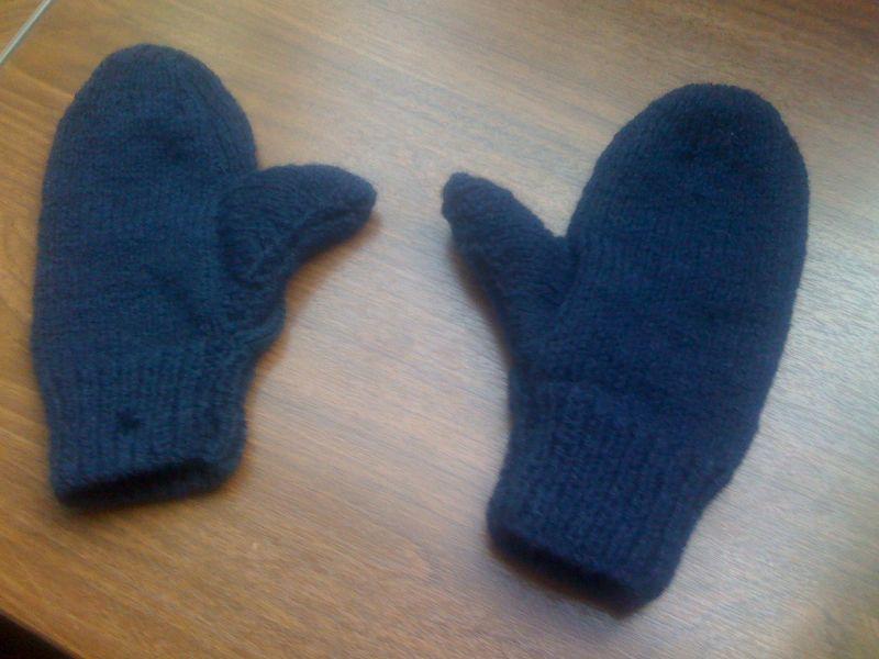 photo tricot modèle tricot moufles 13