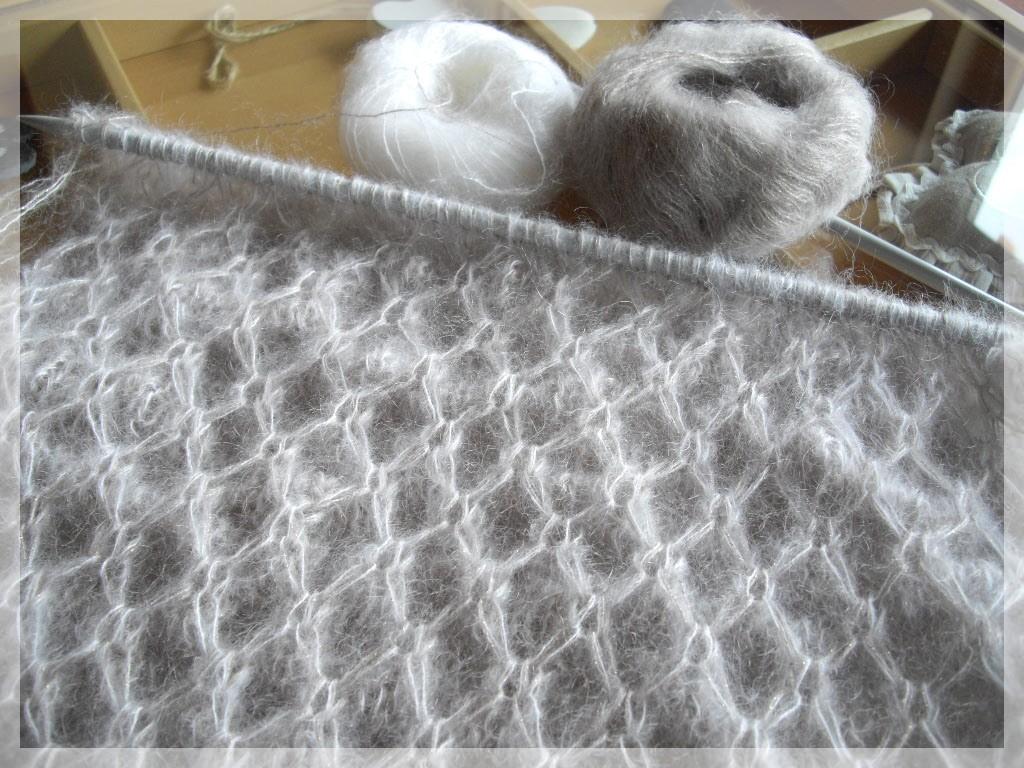 photo tricot modèle tricot nid d abeille maille 7