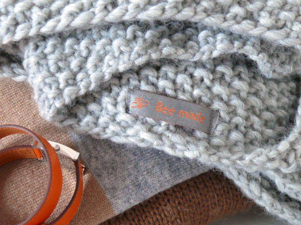 photo tricot mod le tricot point de riz rentrer fils 4. Black Bedroom Furniture Sets. Home Design Ideas