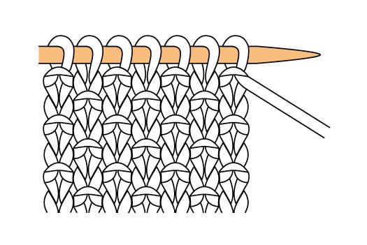 photo tricot modèle tricot point de riz terminer 5