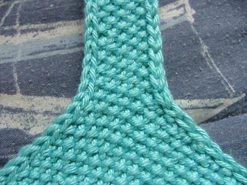 photo tricot modèle tricot point de riz terminer 6