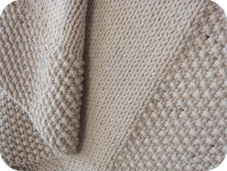 photo tricot modèle tricot point de riz vie 18