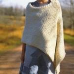photo tricot modèle tricot poncho 14